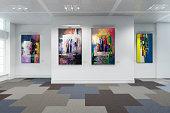 Art Exibition Lot - 3d visualization - artwork \