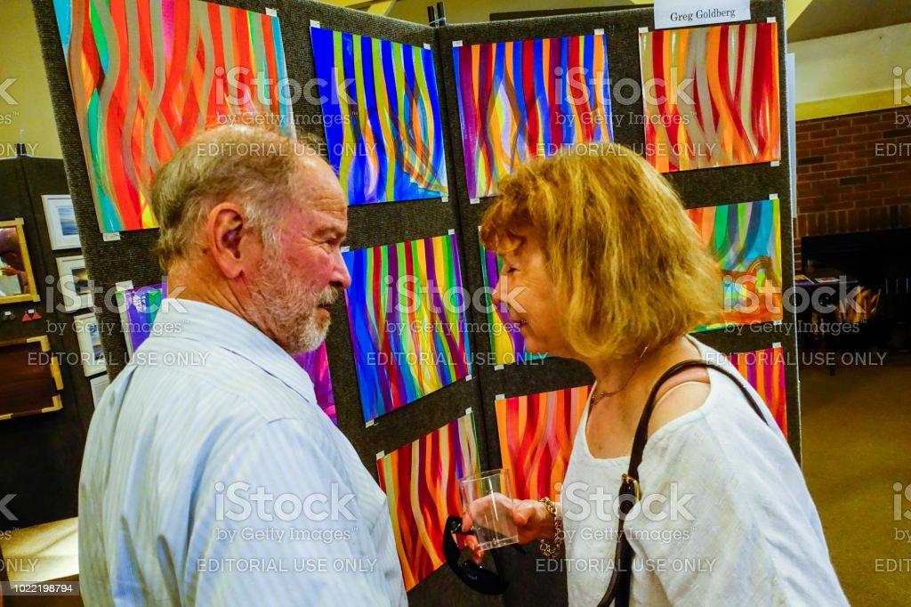 Art fair stock photo