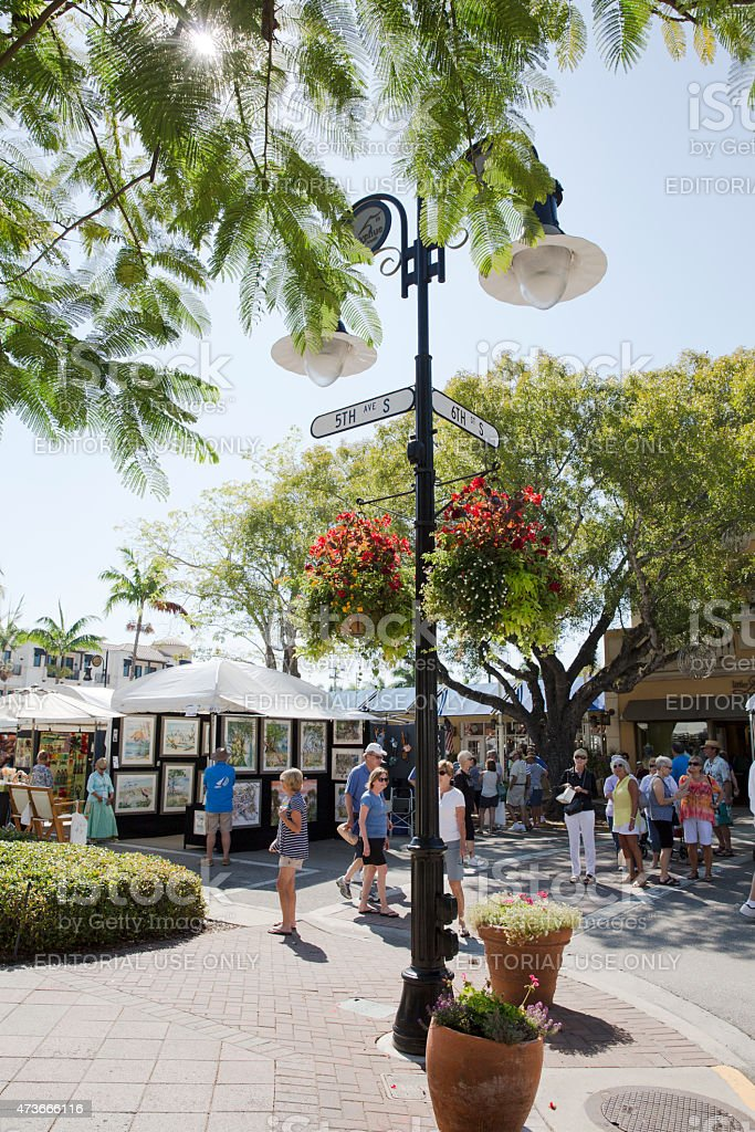 Art Festival on 5th Avenue in Naples Florida stock photo