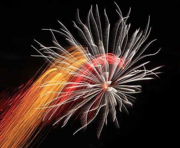 Art fireworks stock photo