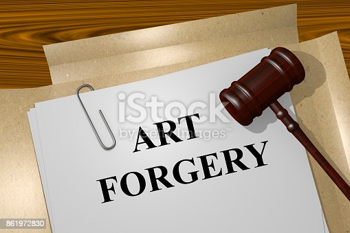 istock Art Forgery concept 861972830