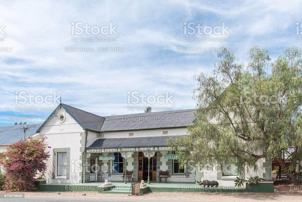Art gallery and studio in McGregor foto de stock royalty-free