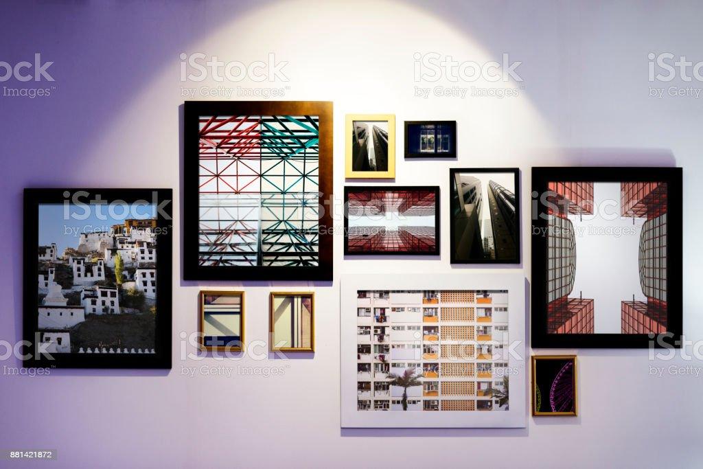 Art gallery is open stock photo