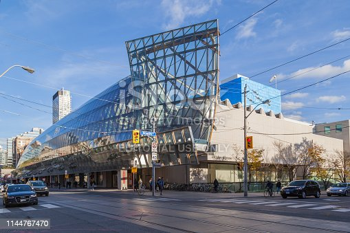 TORONTO, CANADA - NOVEMBER 3, 2017: Art Gallery of Ontario, an art museum in Toronto, Ontario.