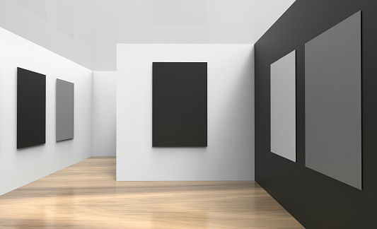 Art Gallery Studio and picture frameWall black And white modern