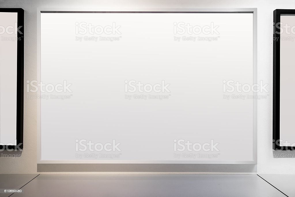 Art Gallery with Blank Frames stock photo