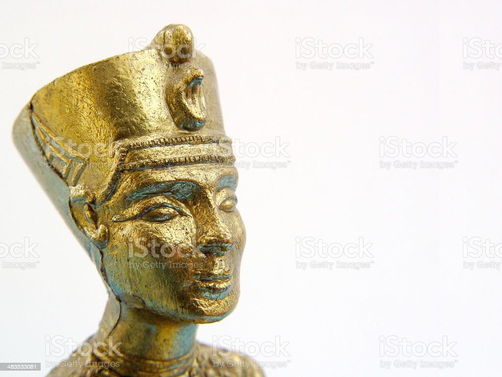 Art - Golden Egyptian Statue royalty-free stock photo