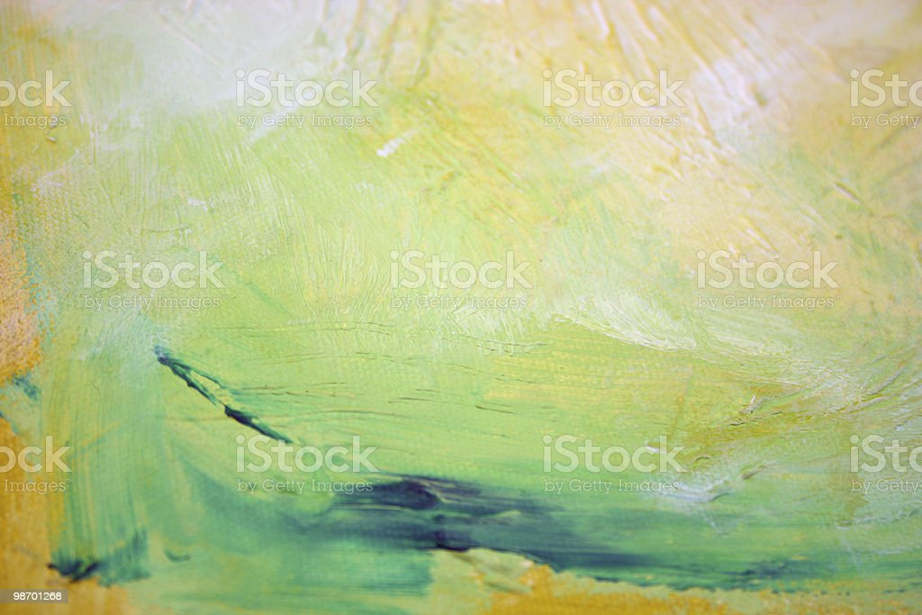 Art - Green & Yellow royalty-free stock photo