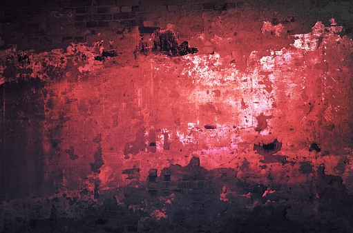 Art grunge background in red and black colors.