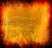Art grunge background in yellow, orange and red colors.