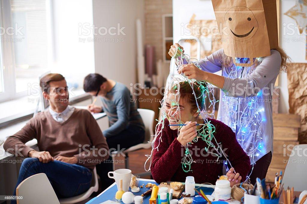 Art is fun stock photo