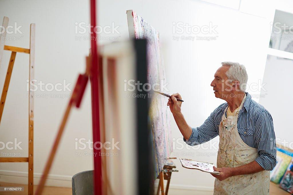 Art is the proper taste of life stock photo