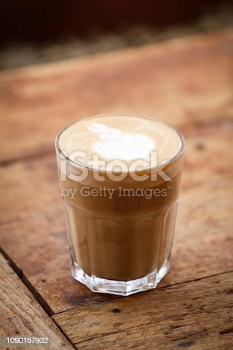 istock Art latte a cup of hot coffee 1090157932