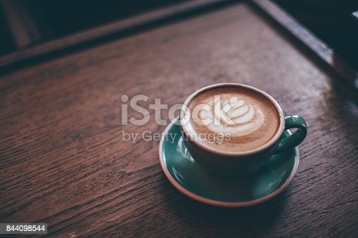 istock Art latte a cup of hot coffee 844098544