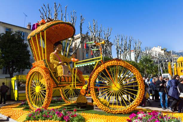 Kunst gemacht von Zitronen und Orangen in der berühmten Zitronenfest in Menton, Frankreich (Fete du Citron) – Foto
