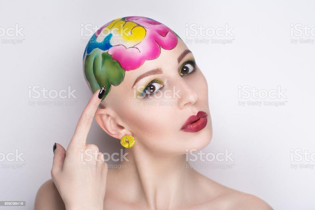 art make up stock photo