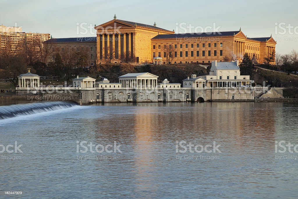 Art Museum and Water Works stock photo