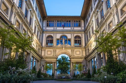 Art museum Uffizi gallery in Florence