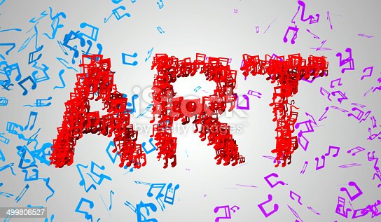istock Art Musical Note Particles 3D 499806527