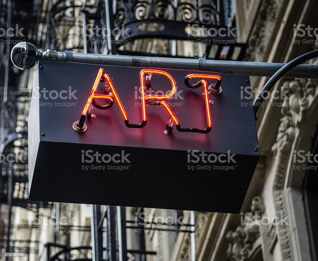 Art Neon Sign stock photo
