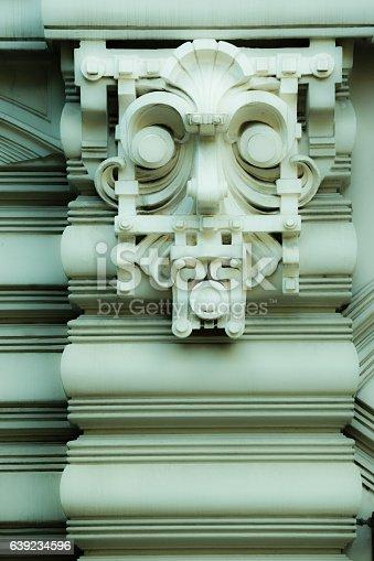istock Art Nouveau an Jugenstil deckorative face relief 639234596