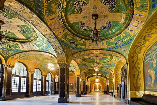 architecture art nouveau de l'intérieur - roumanie photos et images de collection