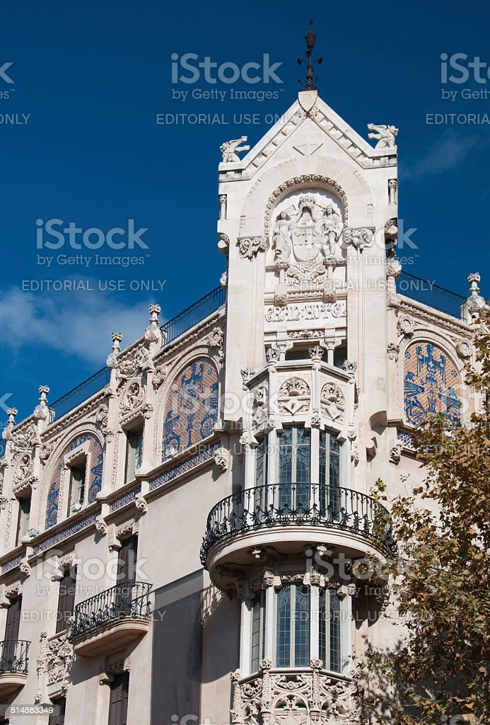 Art Nouveau balcony stock photo