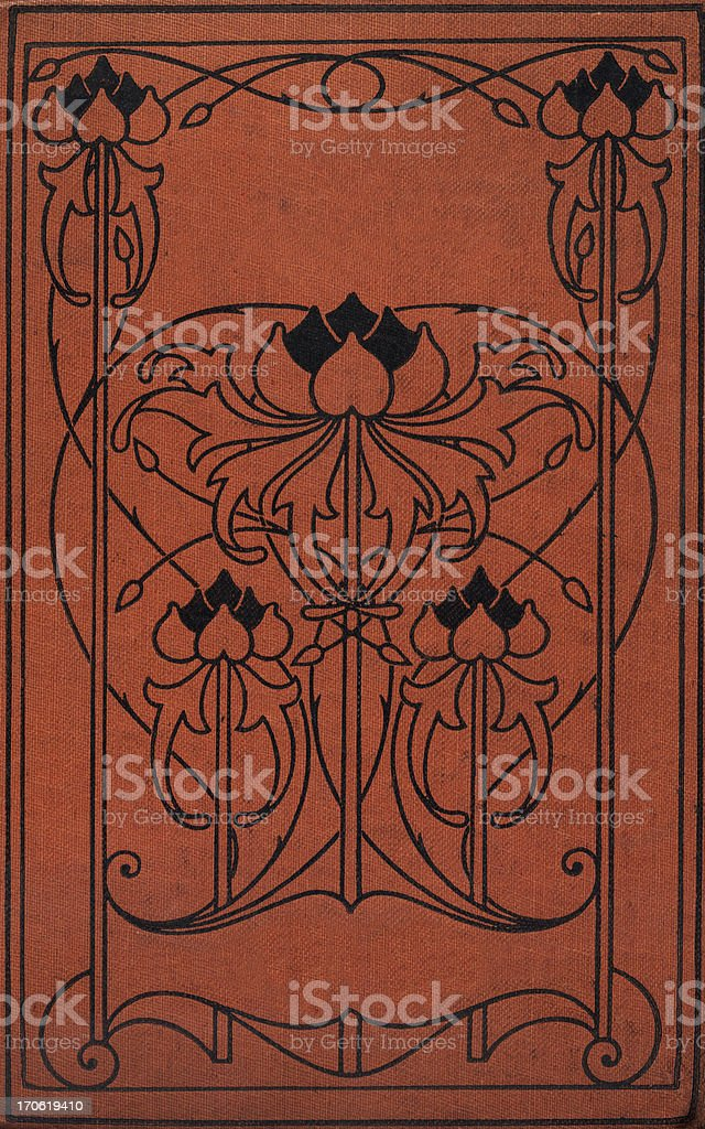 Art Nouveau book cover stock photo