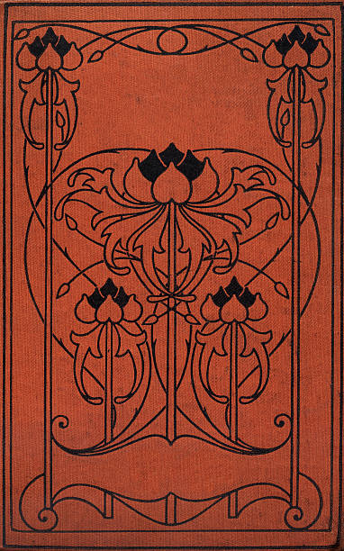 art nouveau book cover - art nouveau stock photos and pictures