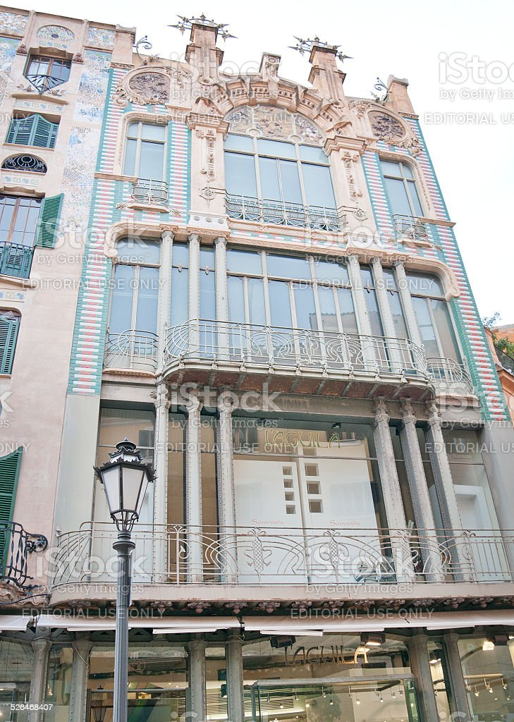 Art nouveau building Palma stock photo
