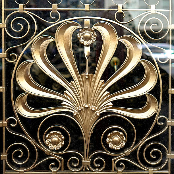 art nouveau decoration - art nouveau stock photos and pictures