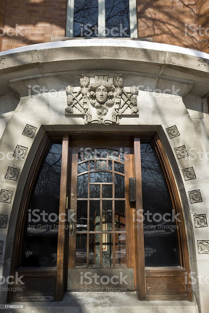 Art Nouveau Doorway in Chicago royalty-free stock photo