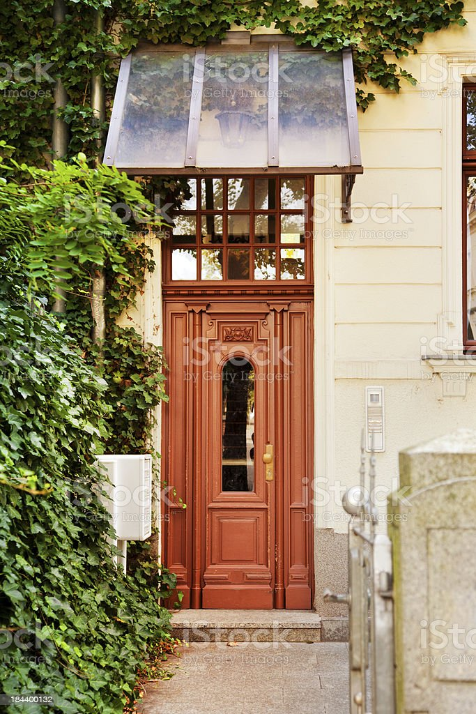 Art Nouveau Entrance of an Old Townhouse stock photo