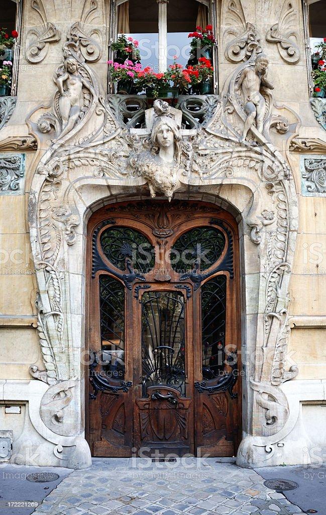 art nouveau entrance stock photo