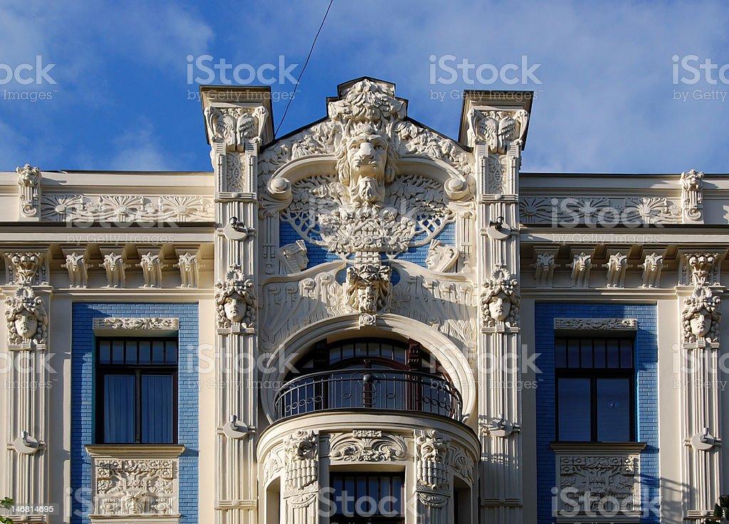 Art Nouveau facade stock photo