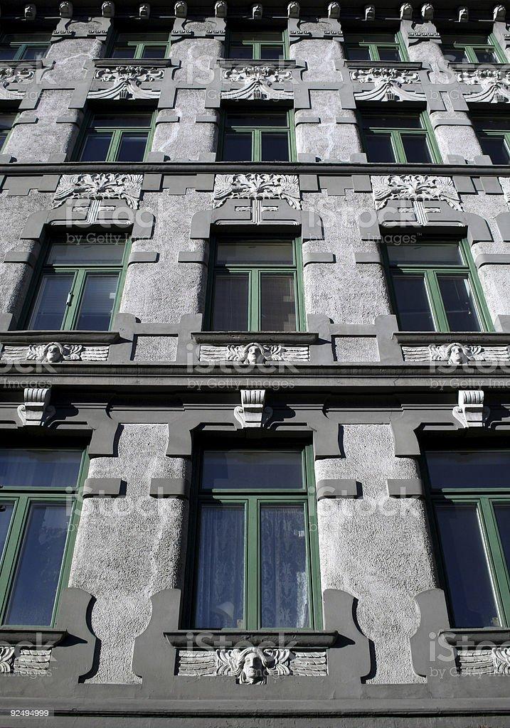 Art nouveau facade royalty-free stock photo