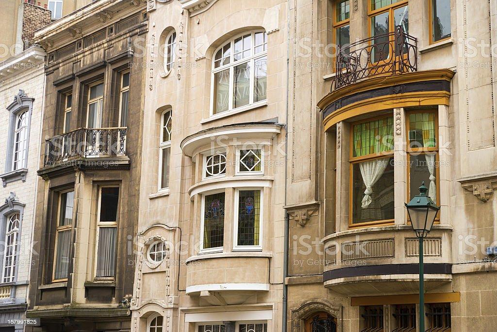 Art Nouveau in Brussels stock photo