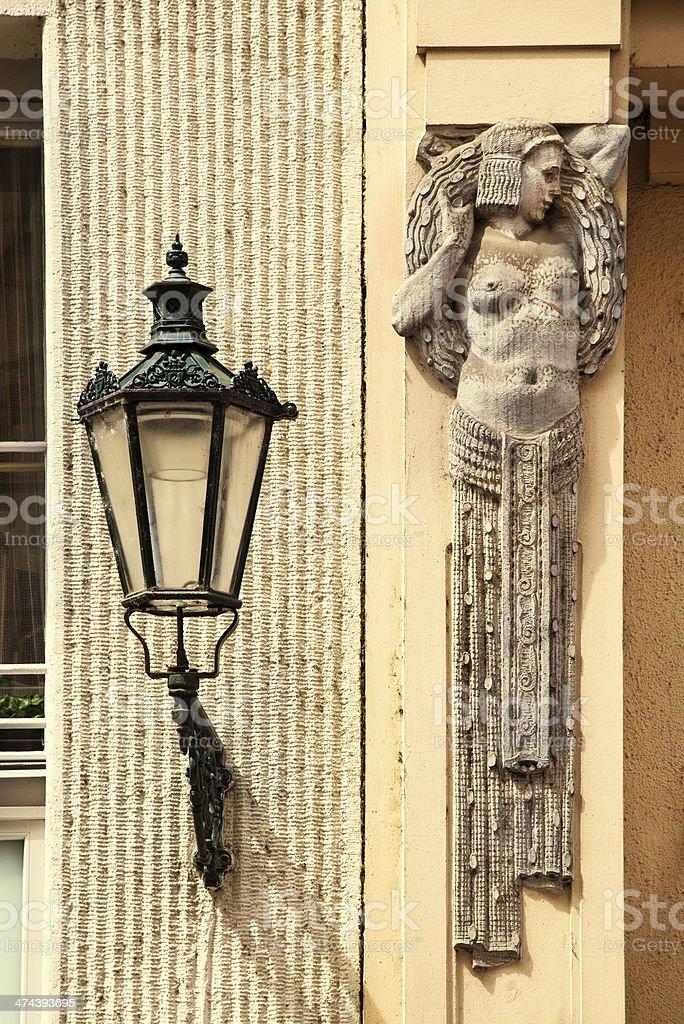 Art Nouveau in Prague, Czech Republic stock photo