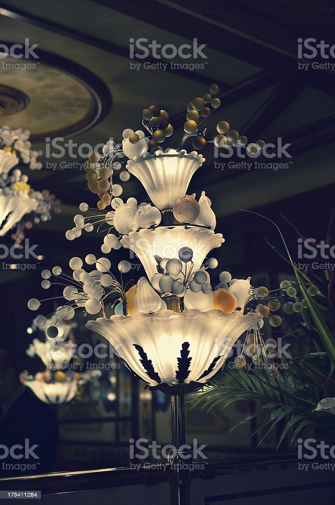 art nouveau lamp royalty-free stock photo