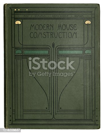 istock Art Nouveau, Old book cover, Modern house construction, 19th Century 1216209637