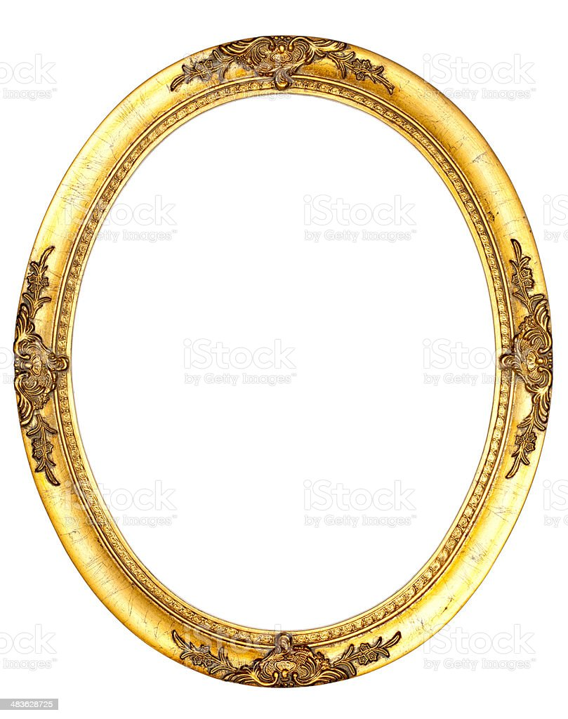 Art Nouveau Picture Frame VIII - Vintage Retro Old royalty-free stock photo