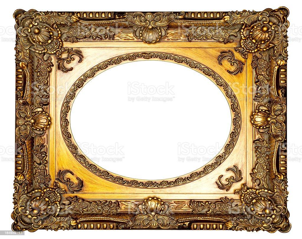 Art Nouveau Picture Frame X - Vintage Retro Old royalty-free stock photo