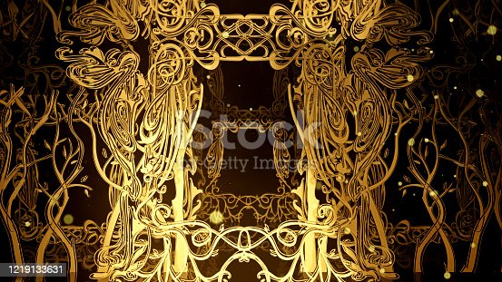 3D illustration Background for advertising and wallpaper in art nouveau and fashion party scene. 3D rendering in decorative concept.