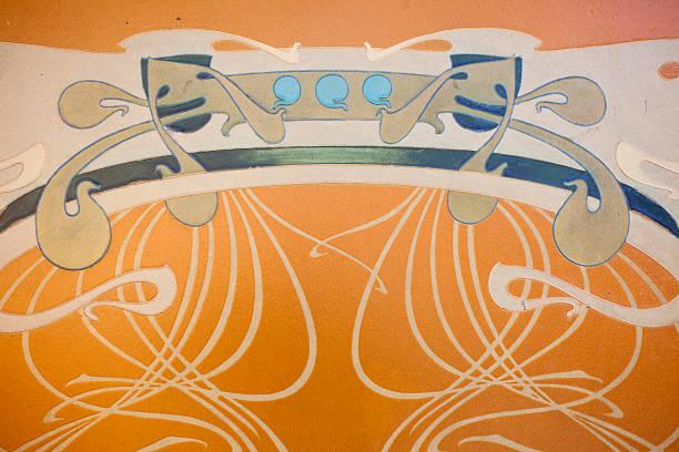 art nouveau - motif ornemental photos et images de collection