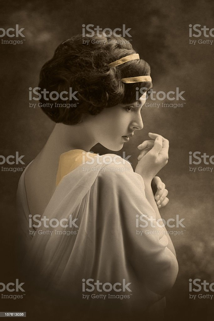 Art Nouveau Portrait royalty-free stock photo