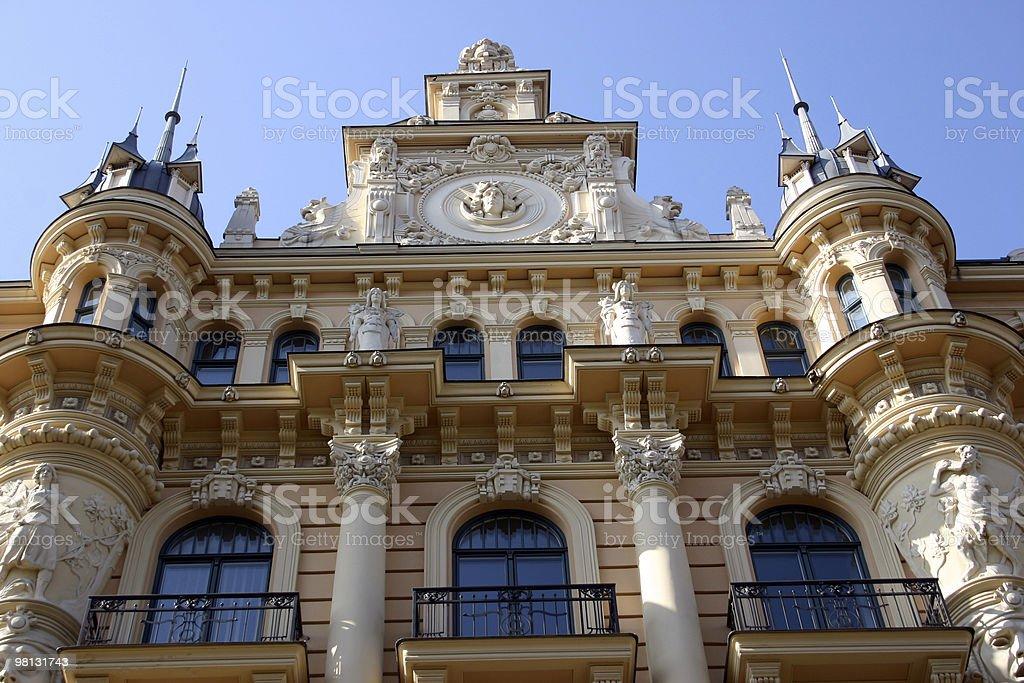 Art Nouveau, Riga royalty-free stock photo