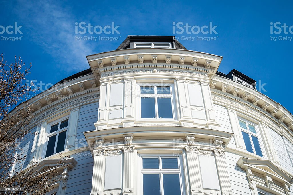 Art Nouveau Townhouse in Hamburg royalty-free stock photo