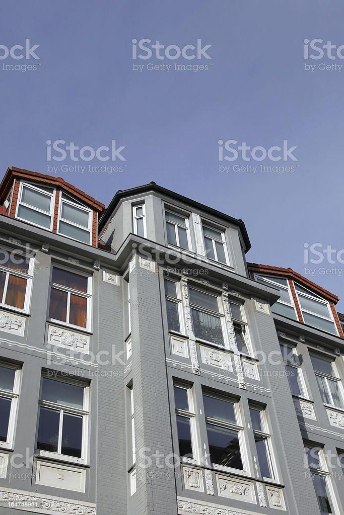 art nouveau townhouse royalty-free stock photo