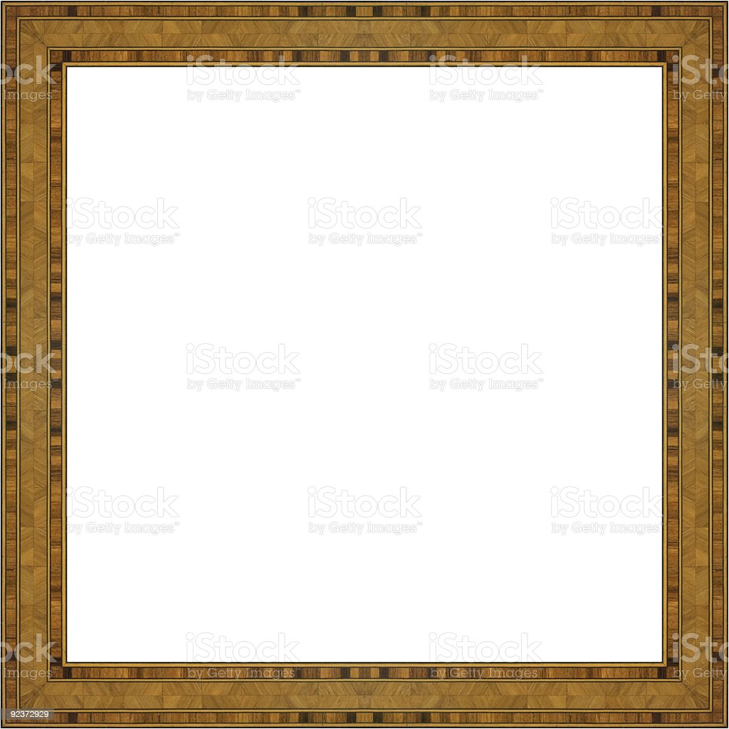 Art Nouveau Wooden Marquetry Frame royalty-free stock photo
