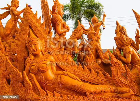 istock Art of carved candles 586356450